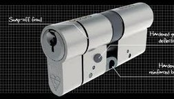 anti snap high security euro cylinder